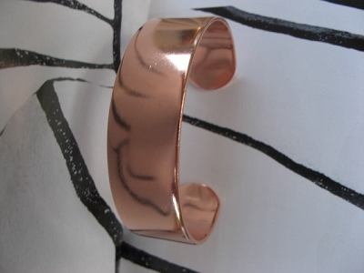 Women's 7 Inch Solid Copper Cuff  Bracelet CB7155T - 3/4 of an inch wide.  -Thick and rigid.