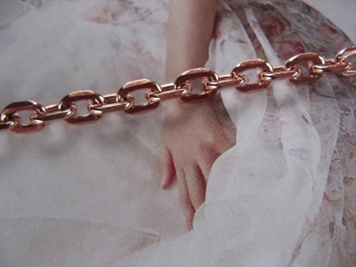 Ladies Solid Copper 6 1/2 Inch Bracelet CB795G - 3/16 of an inch wide