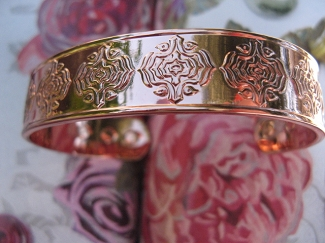 Men's 8 Inch Solid Copper Magnetic Cuff Bracelet CBM976 - 1/2 an  inch wide