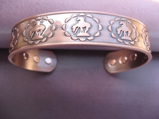 Men's 8 Inch Solid Copper Magnetic Cuff Bracelet CBM979 - 1/2 an  inch wide