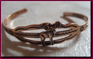 Baby Size - 3 to 4 inch size - Solid Copper Cuff Bracelet CB142W - 1/8 of an inch wide.