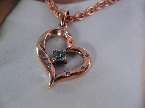 Solid Copper Stone Pendant and 20 Inch Chain Set CPD2962-BT
