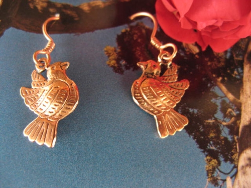 Solid Copper Earrings  CE1962 - 3/4 of an inch long.