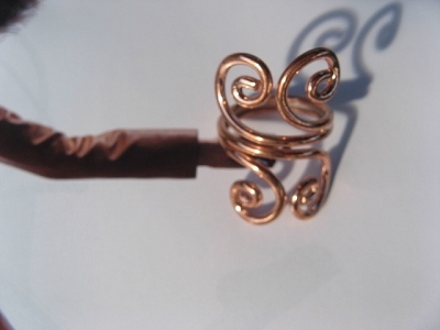 Copper Ring CR707 - Size 8  - 3/4 of an inch wide