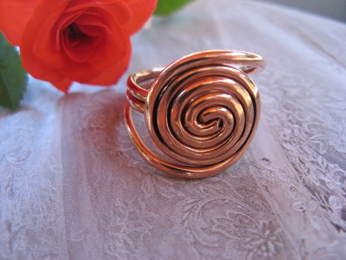 Copper Ring CR799 - Size 7 - 5/8 of an inch round.