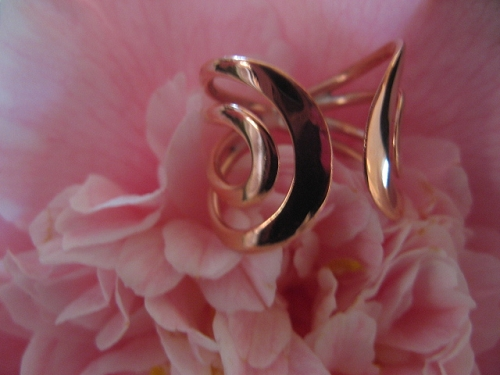 Copper Ring CR717 - Size  8 - 3/4 of an inch wide.