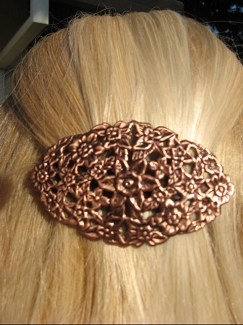 Copper Hair Barrette #4046C