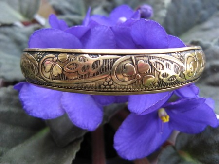 Brass Bangle Bracelet BB30