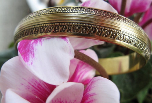 Brass Bangle Bracelet BB4
