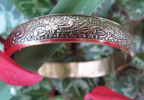 Brass Bangle Bracelet BB5