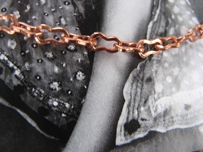 Solid Copper Anklet CA114G - 5/32 of an inch wide - Available in 8 to 12 inch lengths