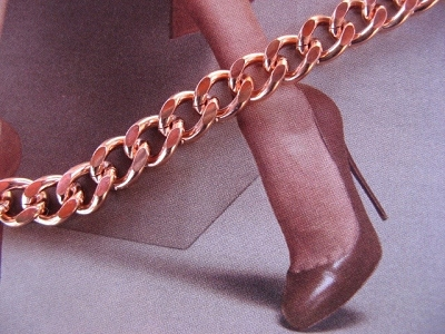 Solid Copper Anklet CA698G - 5/16 of an inch wide - Available in 8 to 12 inch lengths