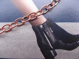 Solid Copper Anklet CA722G - 3/16 of an inch wide - Available in 8 to 12 inch lengths.