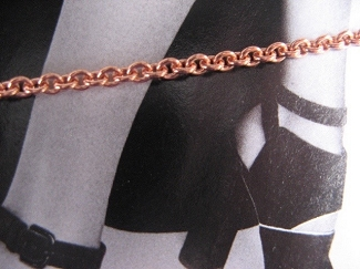 Solid Copper Anklet CA725G - 1/16 of an inch wide - Available in 8 to 11 inches lengths - One of our thinnest designs.
