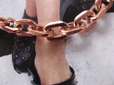 Solid Copper Anklet CA795G - 3/16 of an inch wide - Available in 8 to 12 inch lengths.