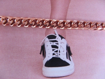 Solid Copper Anklet CA797G - 3/16 of an inch wide - Available in 8 to 12 inch lengths.