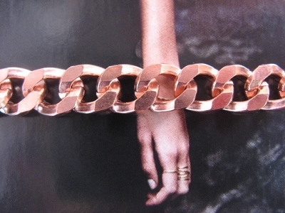 Solid Copper 6 1/2 Inch Bracelet CB107G - 3/8 of an inch wide