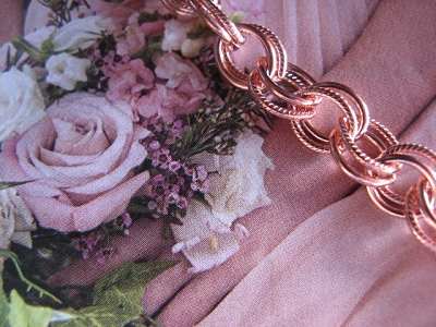 Solid Copper 6 1/2 inch Bracelet CB628G- 1/4 of an inch wide