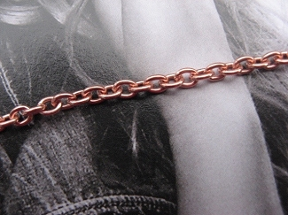 Solid Copper 6 1/2 Inch Bracelet CB723G - 1/8 of an inch wide