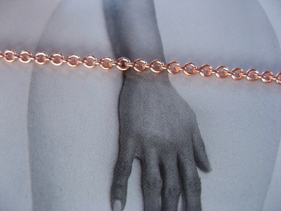 Solid Copper 6 1/2 Inch Bracelet CB726G - 3/16 of an inch wide