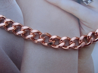 Solid Copper Anklet CA728G - 5/16 of an inch wide - Available in 8 to 12 inch lengths