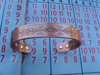 Men's 8 Inch Solid Copper Magnetic Cuff Bracelet CBM840-8 - 1/2 an inch wide.