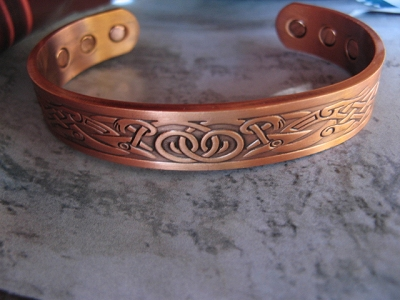 Ladies 7 Inch Solid Copper Magnetic Cuff Bracelet CBM773 - 1/2  an inch wide.