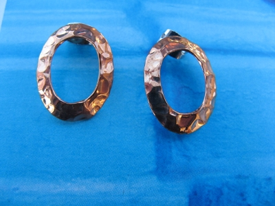 Copper Earrings CE657AR  -  1/2 an inch wide.
