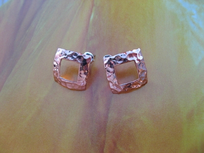 Copper Earrings CE660AR  -  5/8 of an  inch Square.