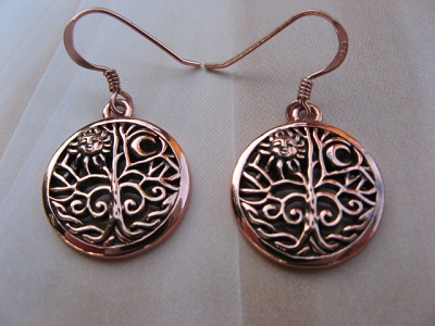 Solid Copper Earrings  CER060 - 5/8 inches round.