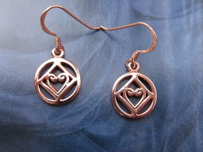 Solid Copper Earrings  CER078 - 1/2 inch round.