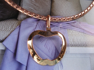 Copper Choker and Pendant #139
