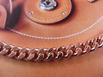 22 Inch Length Solid Copper Chain CN106G -  1/4 of an inch wide