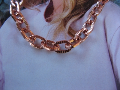 24 inch Length Solid Copper Chain CN614G - 1/4 of an inch wide