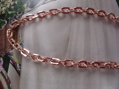 24 Inch Length Solid Copper Chain CN795G - 3/16 of an inch wide