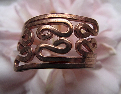 Copper Ring CR101 - Size 6 - 5/8 of an inch wide.