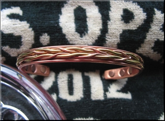 Ladies 7 Inch Solid Copper Magnetic Cuff Bracelet CBM888- 1/4 of an inch wide.