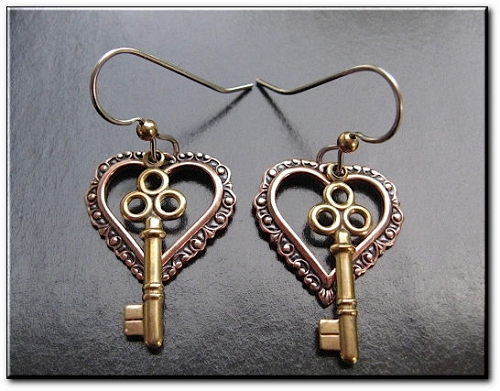 Copper and Brass Earrings BCE22100