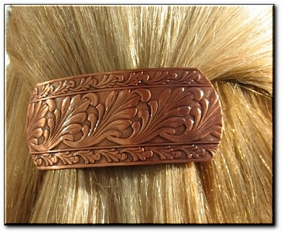 Copper Hair Barrette #4090C1