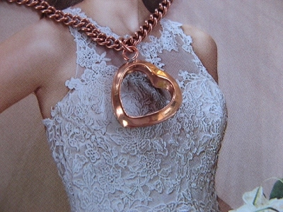 Copper Pendant and Chain Set #257AR