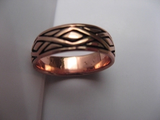 Copper Ring CTR568 - Size 8 - 1/4 of an inch wide.