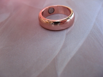 Copper Magnetic Ring CRM27 - Size 8 - 6mm  wide.  (1/4 inch)