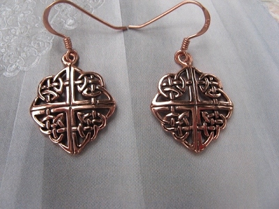 Solid Copper Celtic Knot Earrings #CTE2139