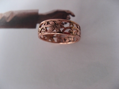 Copper Ring CTR073 - Size 8 - 1/4 of an inch wide.