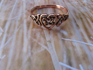 Copper Ring CTR766 Size 6 - 5/16 of an inch wide.