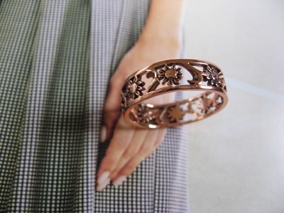Copper Ring CTR222 - Size 9- 1/4 of an inch wide.
