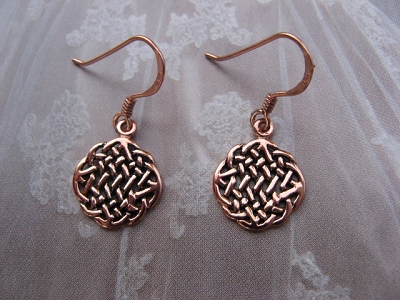 Solid Copper Celtic Knot Earrings #CTE660