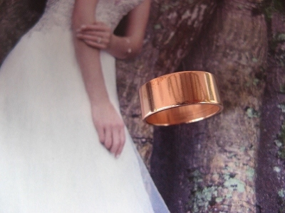 Copper Ring CR50T Size 8 - 5/16 of an inch wide. 8MM - Thick