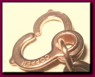 Pack of three Solid copper sister hook clasps.