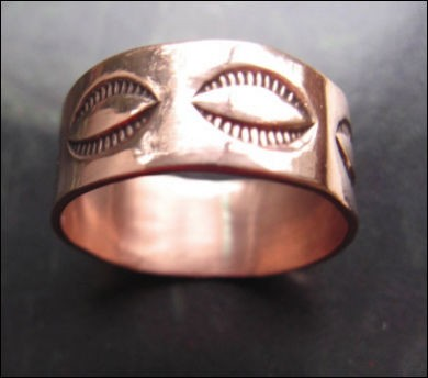 Copper Ring CR077 - Size 7 - 5/16 of an inch wide.